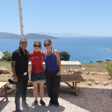 Bodrum, Turkey with Cat and Jess