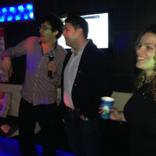 Karaoke with Abby and Simon in Busan, South Korea