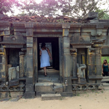 Exploring Buddhist ruins in Sri Lanka