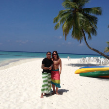 With Jess in the Maldives