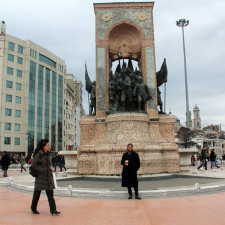 With Reyna at Taksim Square